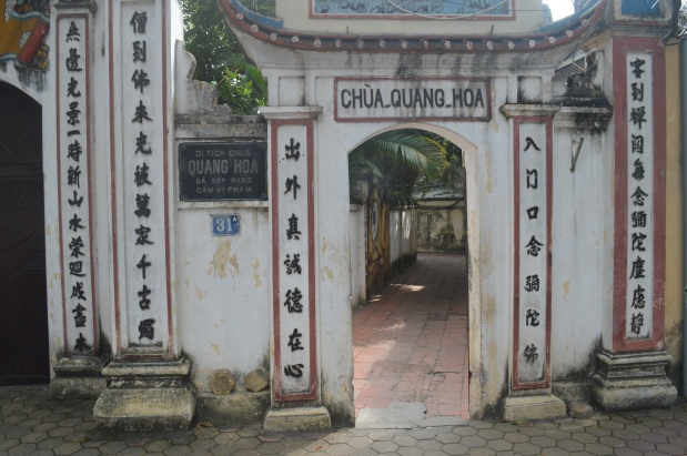 First Step and the Chua Quang HoaTemple