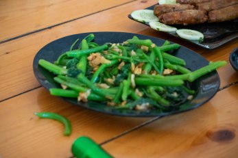 đậu xanh Xao Toi - Green Beans fried with Garlic