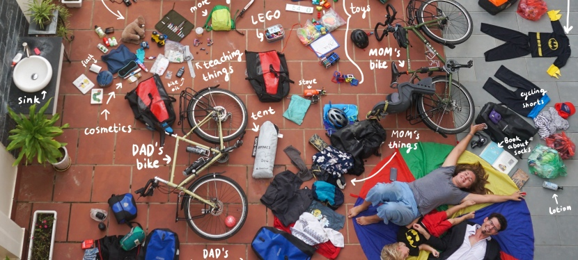 Loading Fully – What we've taken on our bicycle trip from Vietnam To Europe.
